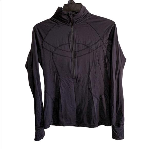 Lululemon zip long sleeve top in black